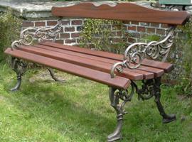 Gartenbank Bronzeguss
